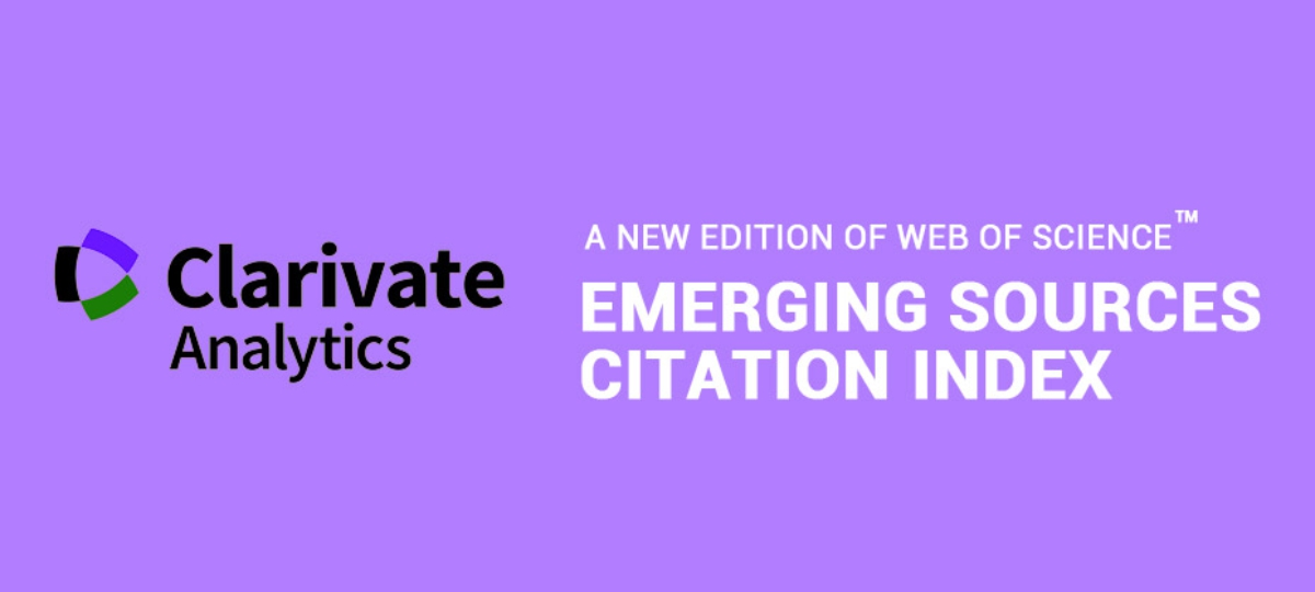 Journal indexed by Clarivate Analytics (New edition of Web of Science)